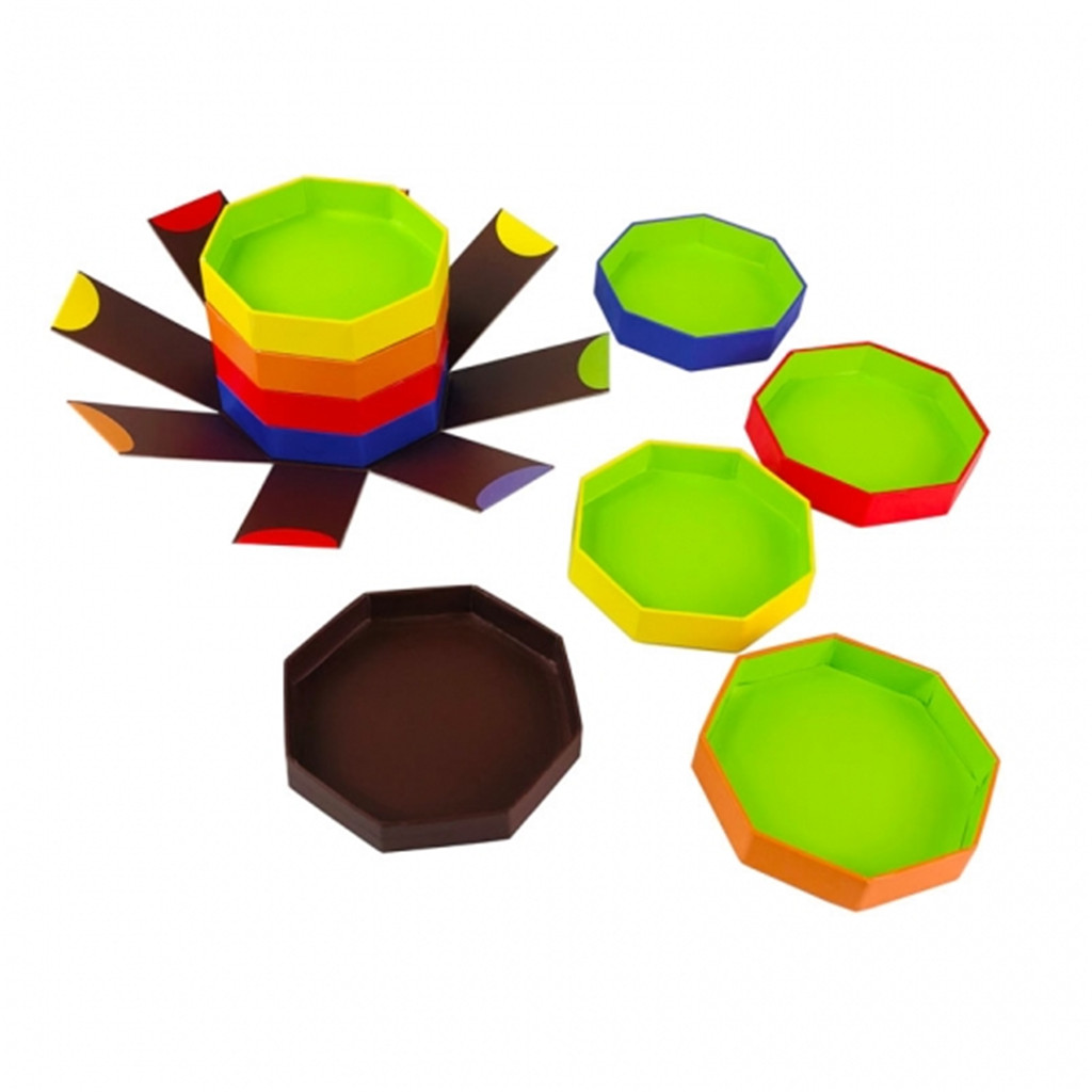 printed octagonal chocolate boxes