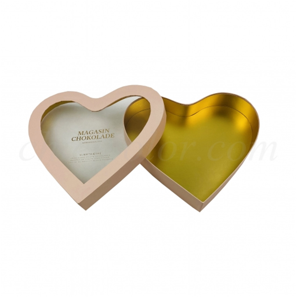 Rigid Heart Shape Gift Box For Chocolate